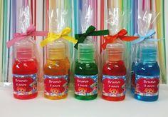 Aniversário da Bruna Mini Gel Anti-Séptico 30ml Aromas variados e as cores do tema Lalaloopsy. http://mixsweets.elo7.com.br