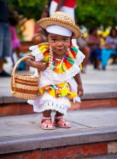 Haiti Fact: The folk costume of Haiti is known as a Karabela dress.