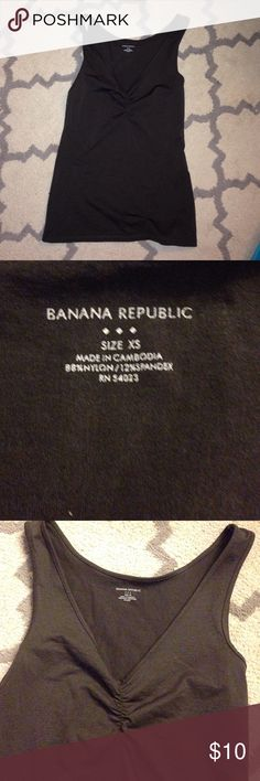Chocolate Banana Republic V-Neck Tank Perfect condition! Size XS Banana Republic Tops Tank Tops