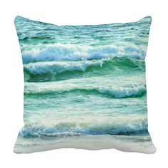 Crashing Ocean Waves Photo Pillow: http://www.beachblissdesigns.com/2015/08/crashing-ocean-waves-nautical-pillow.html