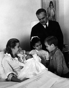 Princess Grace, Prince Rainier, and children