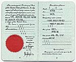 Citation: Jackson Pollock's passport, 1955 July 21 . Jackson Pollock and Lee Krasner papers, Archives of American Art, Smithsonian Institution.