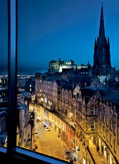 Room With A View | Hotel Missoni, Edinburgh  I've been to Edinburgh, but my view was definitely not this good!