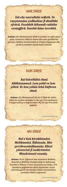 Sureler ve Anlamları Islam Religion, Islam Muslim, Health Desserts, Allah, Quran, Prayers, Poems, Rage, Spiritual