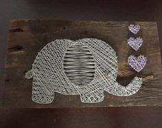 Two Hearts String Art by HookCraftCreate on Etsy