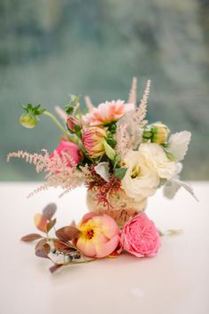 fall centerpiece with astilbe | Sera Petras