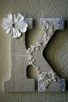 perfect.DIY project- Monogram letters for the doors of the chappel
