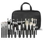 Professional 25pcs Makeup Artist Brush Set and Carry Case