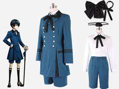 Black Butler Ciel Phantomhive blue uniform Cosplay Costume Sebasti Kuroshitsuji Aristocrat  Halloween Costumes http://ali.pub/escfh