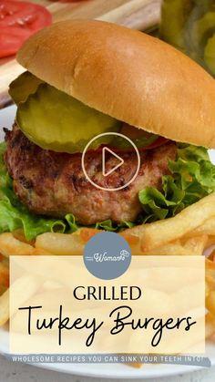 Grilled Turkey Burgers, Turkey Burger Recipes, Beer Recipes, Snack Recipes, Cooking Recipes, Healthy Recipes, Healthy Foods, Easy Recipes, Deserts