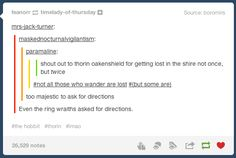 "When Thorin's stubbornness was called out. | Literally Just A Bunch Of Really Funny ""Lord Of The Rings"" Tumblr Posts"