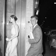 Audrey photographed with her brother Ian Ufford in Rome,1958