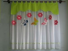 Sheer Curtains Bedroom, Childrens Curtains, Kids Room Curtains, Cute Curtains, Colorful Curtains, Window Curtain Designs, Curtain Patterns, Folding Fitted Sheets, Rideaux Design