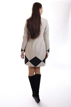 Two-color wool-blend coat Winter 2017, Fall Winter, Wool Blend, Coat, Sweaters, Shopping, Collection, Dresses, Fashion