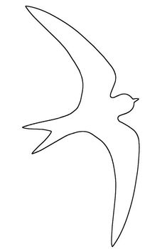 Flying Sparrow Saw Craft Pattern Paper Birds, Paper Flowers, Swift Bird, Bear Crafts, Arts And Crafts, Paper Crafts, Bird Silhouette, Stained Glass Designs, Pattern Images