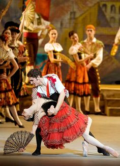"Mr. Vasiliev with Natalia Osipova in a 2007 Bolshoi Ballet production of ""Don Quixote."""