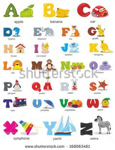 Vector alphabet design for kids