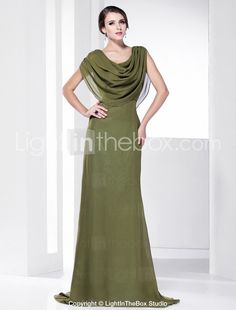 In a different color (and they offer many), this gown with attached capelet would be stunning :)