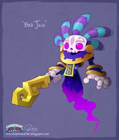 Bad Juju concept from Skylanders Trap Team by MURCHIEMONSTER