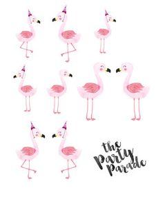 Mini Flamingo Printable Freebie