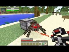 Minecraft - Popularmmos: JET PACK SPIDER ALIEN MOD SHOOT LASER CREEPERS ...