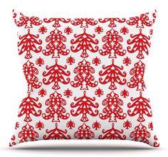 "Ornate Trees by Miranda Mol 18"" Throw Pillow"