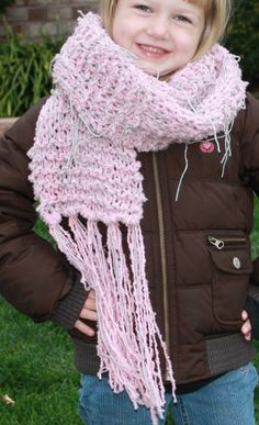 Cute pink scarf for your diva to wear with her Easter Dress.  Soft, not itchy, she'll love it!