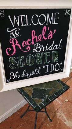 Bridal Shower Welcome Sign: The Glam Giraffe
