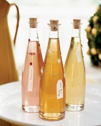 Homemade Food Gifts: Infused Sugar Syrups - Green Tea and Honey, Lime Mint, Green Tea and Orange Blossom