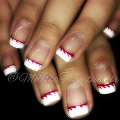 #nails #nailart #CND #shellac #nailgasm #nailpromagazine #nailsmagazine #nailporn #baseball #nailgasm