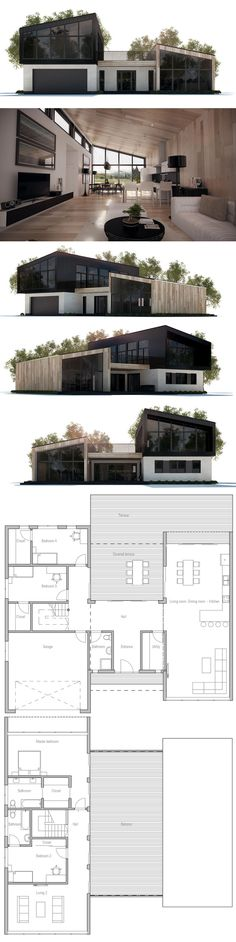 House Plan with four bedrooms. ---> Repinned by www.gers.nl
