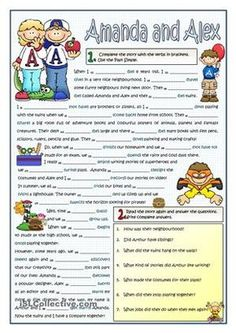 Students fill in the gaps with the verbs given in brackets in Simple Past. Then they read again the whole text and answer the questions about the story. Key provided - ESL worksheets