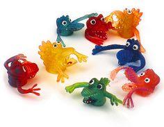 Monstres-doigt jouet nostalgique rétro années 80 90