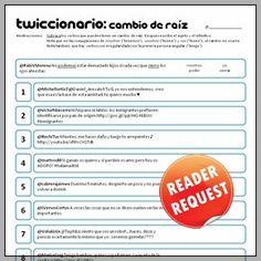 Twiccionario: Verbos con cambio de raíz Spanish Grammar, Spanish 1, Spanish Teacher, Spanish Classroom, Teaching Spanish, Learn Spanish, Spanish Club Ideas, Verb Conjugation, Teacher Resources