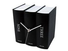 Karlsson Book Table Clock, Black Present Time https://smile.amazon.com/dp/B000LRLEEI/ref=cm_sw_r_pi_dp_x_A.Vwyb9HVYASD