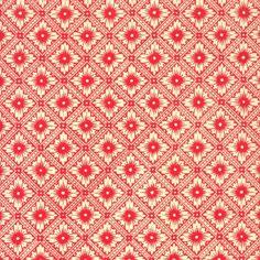 Red Star Flower Print Italian Paper ~ Carta Varese Italy