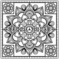 Mandala Colouring Book Page || Instant Download || Adult Colouring Book Page…