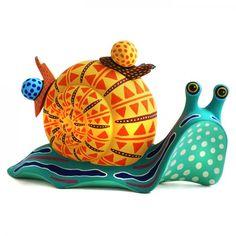 Luis Pablo: Snails Ceramic Monsters, Snail Art, Mexican Flowers, Wooden Art, Summer Art, Mexican Folk Art, Sculpture Clay, Elementary Art, Unique Art