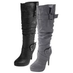 @Overstock - Cross-over front straps accented by silvertone buckles highlight these slouchy mid-calf boots by Journee Collection. The Katherine-2 high heel boots are constructed of faux leather uppers and completed with an inside zipper closure for easy styling.http://www.overstock.com/Clothing-Shoes/Journee-Collection-Womens-Katherine-2-Strappy-Heeled-Boots/6091496/product.html?CID=214117 $53.99