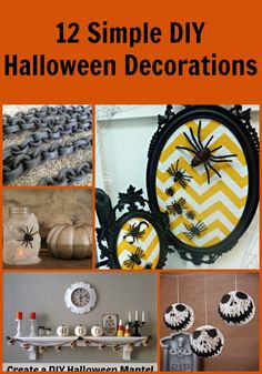 These cute DIY halloween decorations are super cute and simple to make!  I love so many of them and could see them in my house! #halloween #DIY #craft