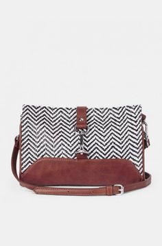 Straw Crossbodys - Marla - Black White- I Love this bag!!