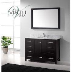 "Buy Virtu USA 48"" Caroline Avenue Single Bathroom Vanity – Espresso OnSale best price best Shop Halloween 2013"