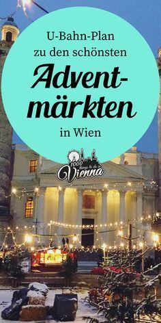 Wir zeigen dir, bei welchen U-Bahnstationen du aussteigen musst, um zu den schönsten Weihnachtsmärkten in Wien zu kommen. U Bahn Plan, Advent, Places To Travel, Travel Destinations, Stuff To Do, Things To Do, Packing Tips For Travel, Travel Hacks, Solo Travel