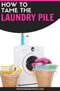 Do you feel like laundry is the never-ending chore? Check out these 5 tricks for how to tame the laundry pile to get your laundry under control. #laundry #cleaninghacks #laundryhacks #cleaning Doing Laundry, Laundry Hacks, Spring Cleaning, Washing Clothes, Home Organization, Cleaning Hacks, How Are You Feeling, Check, Laundry Tips