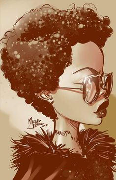 Dope art by Marcus Williams Black Love Art, Black Girl Art, African American Art, African Art, Tableau Pop Art, Arte Black, Black Art Pictures, Natural Hair Art, By Any Means Necessary