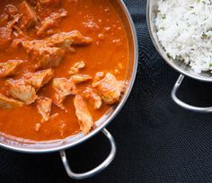 Vegan Seitan Tikka Masala - Delicious. I was just thinking about this idea a few days ago because chicken tikka masala used to be a favorite dish, back in the day. But as a vegan, using seitan is brilliant. LOVE this and must both try and make it.