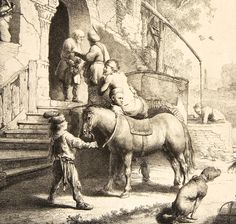 16. The Good Samaritan, 1633, Etching, engraving and drypoint, 25.6 × 20.5 cm