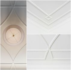 Designed by Regina Sturrock Design Inc.Soft graphics of simple profile and intersecting line on the fifth wall