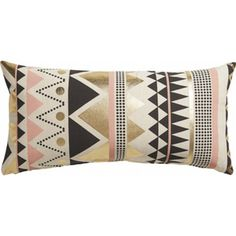 A Pillow in the Perfect Palette // geometric pillow
