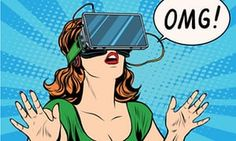 OMG emotions from virtual reality retro girl pop art retro vector. Woman using the virtual reality headset. Virtual Reality Systems, Virtual Reality Headset, Augmented Reality, Technology World, Digital Technology, Technology Gifts, Technology Apple, Medical Technology, Energy Technology